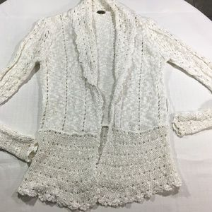 One Girl Who White Wisdom Cardigan Anthropologie M